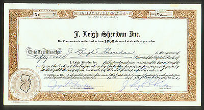 J  Leigh Sheridan Inc    Nj   Certificate   1   Natl Hero Dog Hall Fort Myers