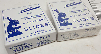 2 Boxes Of 72 Clear Glass Blank 1 X 3 Aprox 1mm-1.2mm Thick Microscope Slides