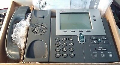 Cisco Ip 7940 Business Voip Telephone Charcoal Exc Working Condition