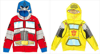 NWT Transformers Bumble Bee Optimus Prime Hooded Sweater Costume Hoodie Jacket - Bumble Bee Costumes