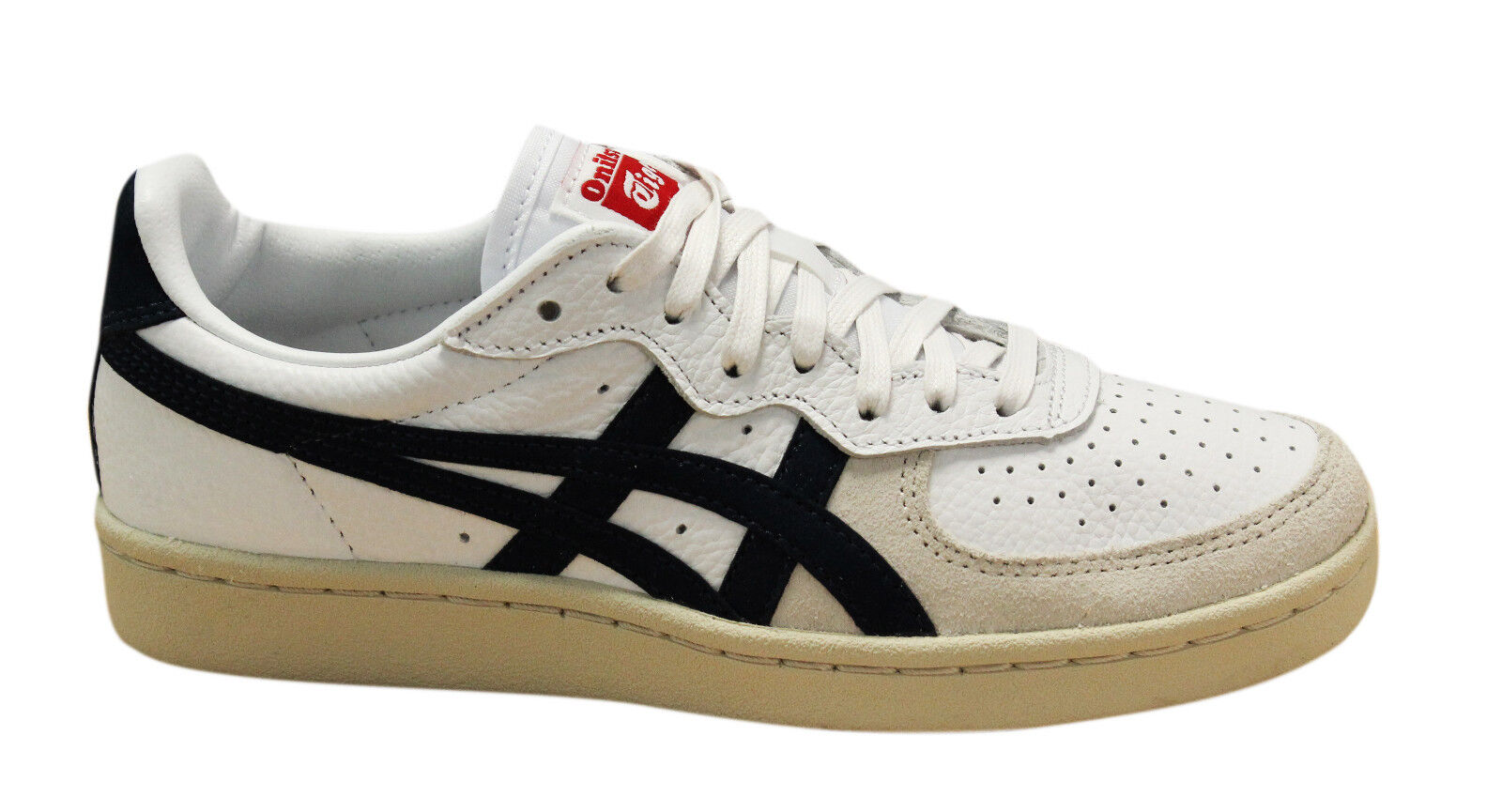 Asics Onitsuka Tiger GSM Lace Up Unisex Trainers White Navy D5K2Y ... 7328ae3ab7a