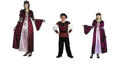 Renaissance Princess Prince Child / Adult Fancy Dress Party Costume All Sizes