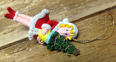 Dr Seuss Grinch Who Stole Christmas Resin Ornament Cindy Lou w Tree Red Dress - Cindy Lou Who Dress