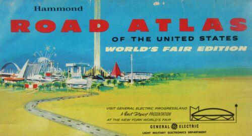 Vintage Walt Disney GE Progressland Road Atlas 1964 New York World