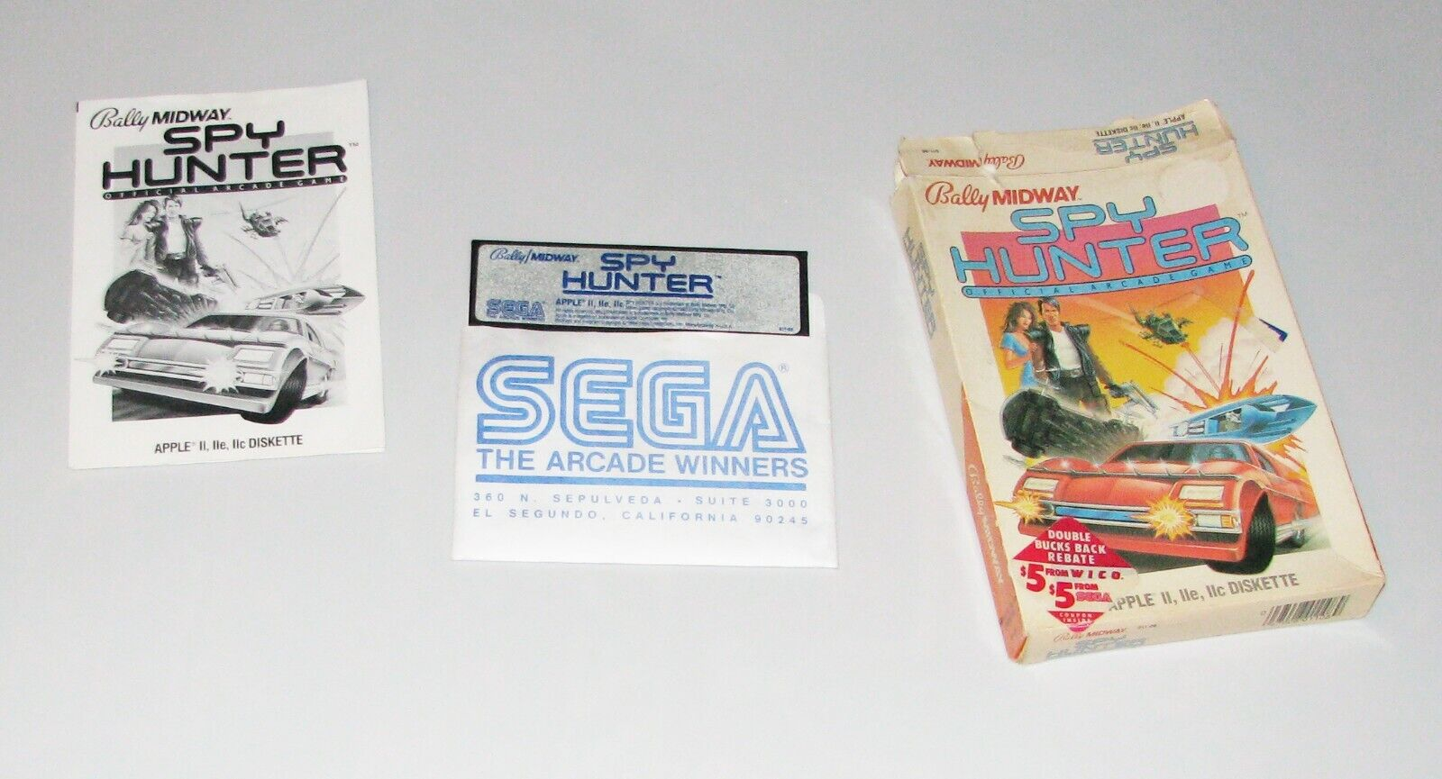 Computer Games - SPY HUNTER Apple 2 vintage computer game by SEGA (USED/ AS IS).