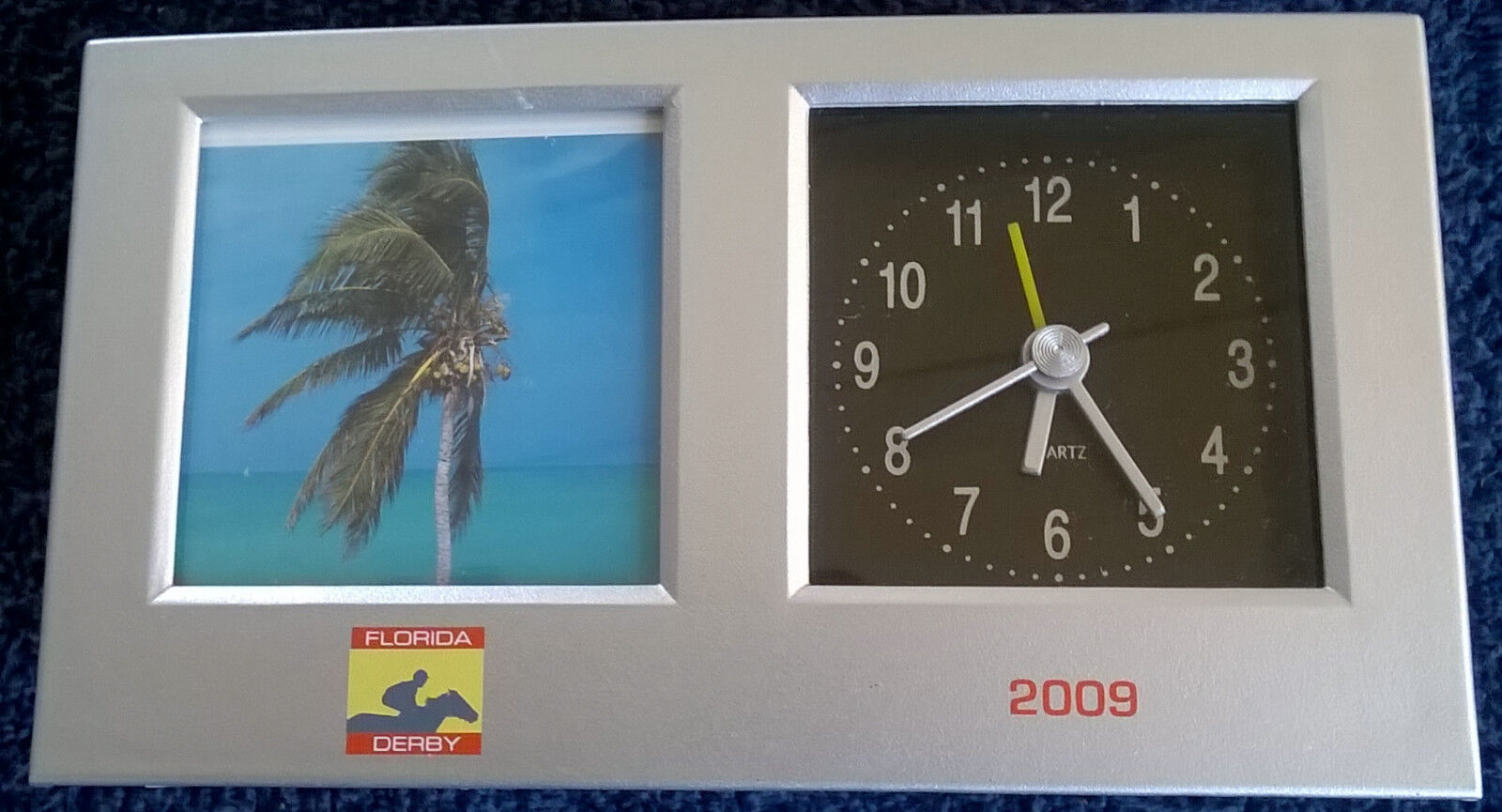 2009 Florida Derby Picture Frame and Desk Clock Alarm~Free Shipping