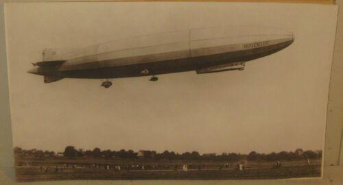 Antique ORIGINAL Zeppelin LZ 120 BODENSEE Launch Albumen PHOTO - Airship BLIMP