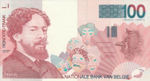 Vintage Banknote Belgium Choice UNC 1995 2001 100 Francs Pick 147 US Seller