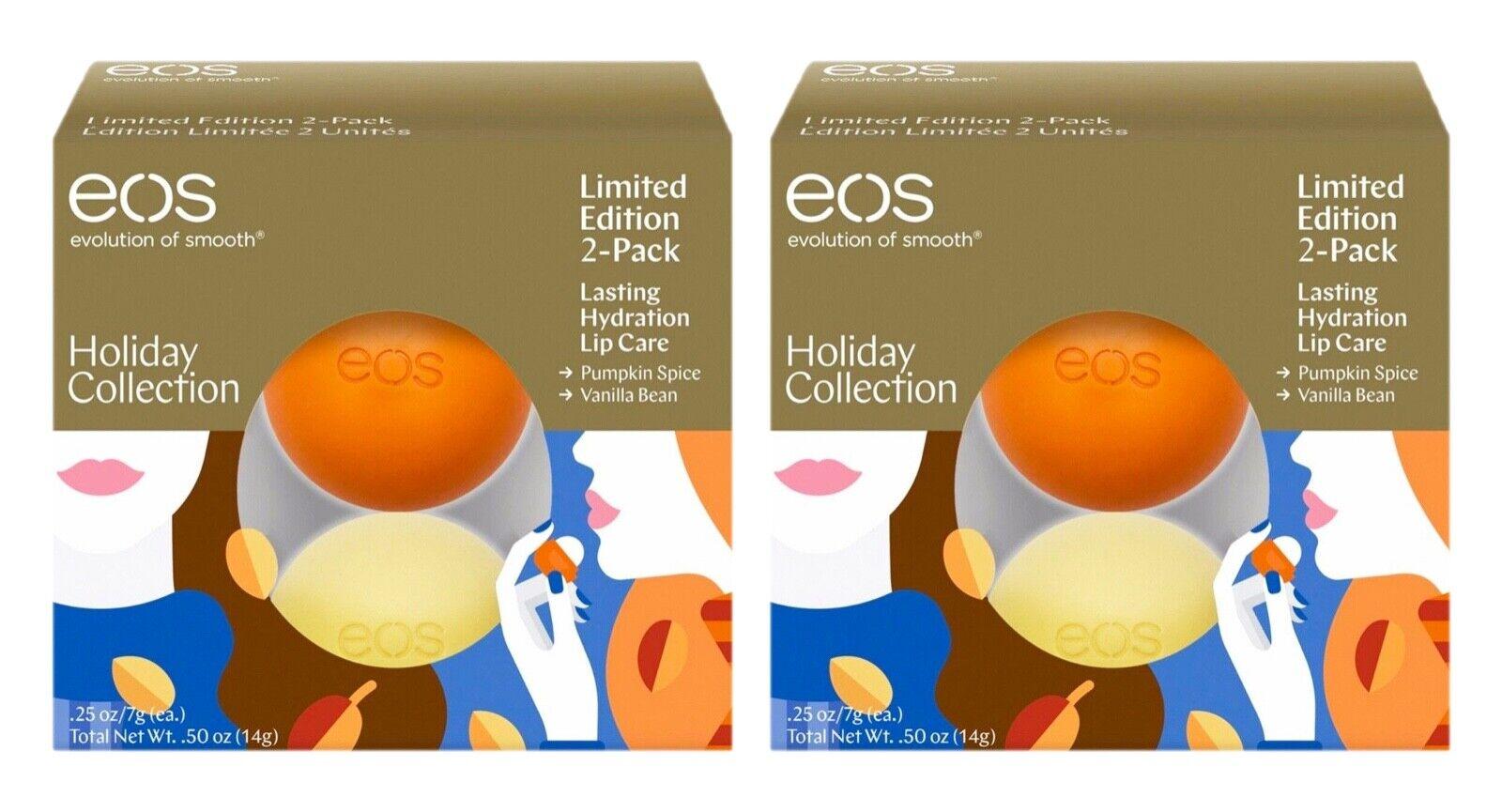 EOS Pumpkin Spice & Vanilla Bean 2 Pack Lip Balm Limited Edi