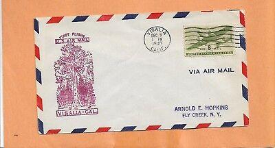 US # C26 FIRST FLIGHT VISALIA CA TO MERCED CA DEC 9,1946 (Visalia Ca Us)