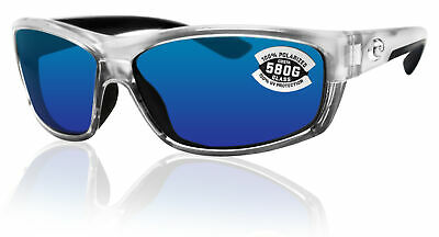 - Costa Del Mar saltbreak silver frame blue mirror polarized 580G glass lens