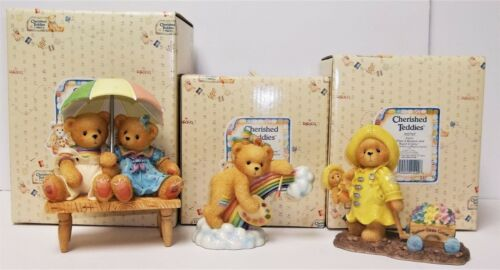 Cherished Teddies Lot of 3 Follow Rainbow Figurines Joyce, Ellen Carter & Elsie