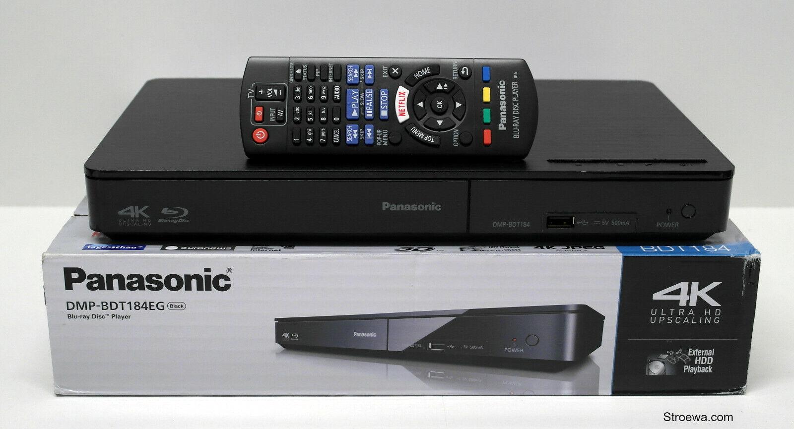 Panasonic DMP-BDT184EG 3D Blu-ray Player schwarz, Ausstellungsstück