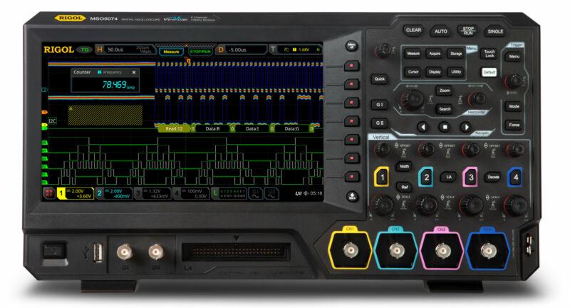 Rigol MSO5074 - Four Channel, 70 MHz Digital / Mixed Signal Oscilloscope
