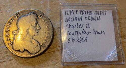 1679 GREAT BRITAIN CROWN Charles II KM#445.1