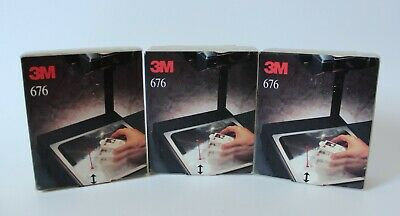 1994 Vintage 3m 676 Overhead Projector Cleaner Lot Of 3 Box Set Made In Usa