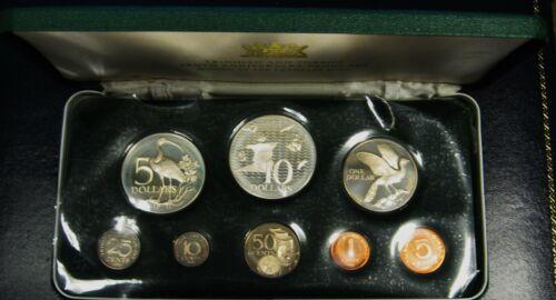1973 Trinidad and Tobago Silver Proof Set Franklin Mint Issue Original Box & COA