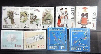 Estonia 1994 Four Complete Sets. MNH.