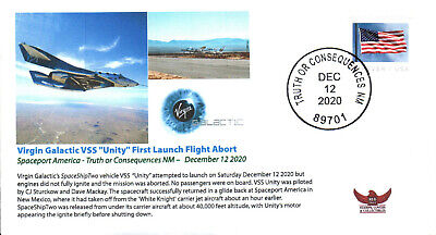 2020 Virgin Galactic SpaceShipTwo VSS Unity 1st Launch Abort TOC NM 12 Dec Black