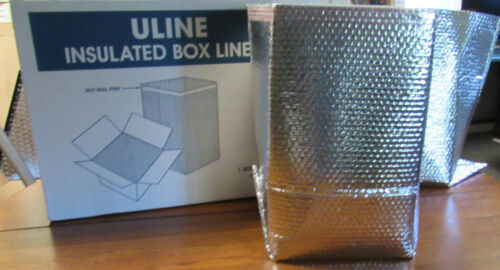 ULINE INSULATED FOIL BOX LINERS 12x12X12 (25 LINERS TO A CASE) TREMENDOUS DEAL