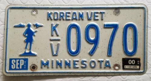 Minnesota Korean War Veteran License Plate - Sep 2000 tags