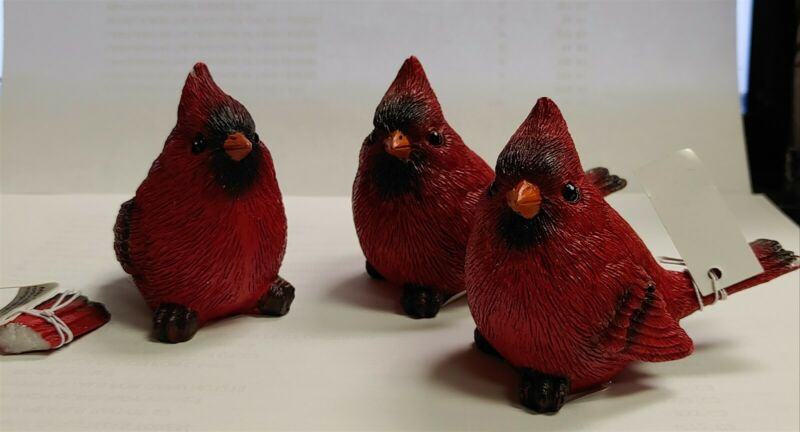 Victorian Trading Co NWD Cardinal Bird Set of 3