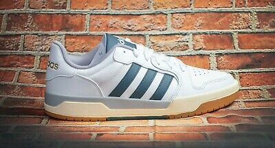 ONLY RIGHT SHOE FOR AMPUTEE-ADIDAS-ENTRAP-BASKETBALL-LEATHER-SIZE 11-WHITE-NEW