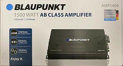BLAUPUNKT AMP1404 CAR AUDIO 4 CHANNEL AMP AMPLIFIER 1500W MAX PEAK POWER