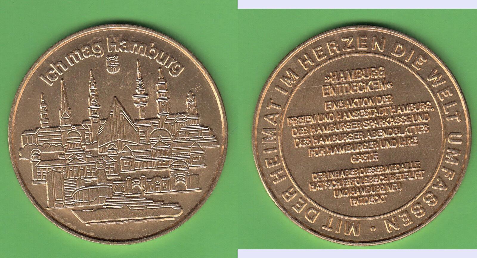 Hamburg Haspa Bankwesen und Abendblatt Presse Goldbronzemedaille Schiff Ship