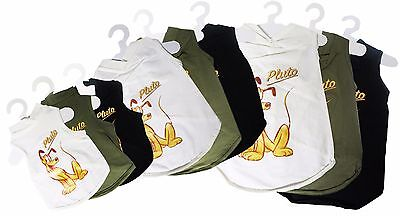 Disney Pluto Discontinued Pet Dog Cat T-Shirt Clothing Apparel S M L Lot of 81