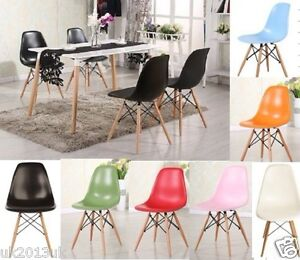 4 Wooden Chair Retro Lounge Dining Room Set Table Chairs Office Chair NOT EAM