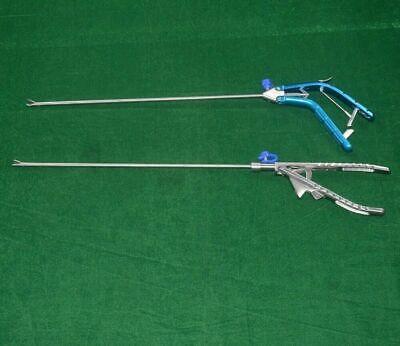 Laparoscopic Needle Holder Straight Curved Jaw Storz Pattern V Type 2 Pc