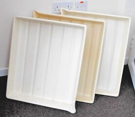 Large plastic trays 19 x 22in (48 x 56 cms)