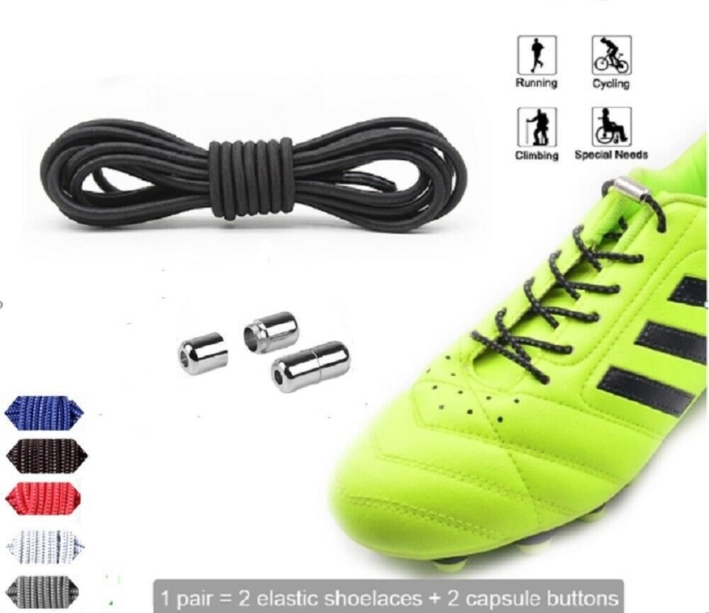 Elastic Silicone No Tie Lazy Shoe Laces Shoelaces Trainers Shoes Adult Kids US Clothing & Shoe Care