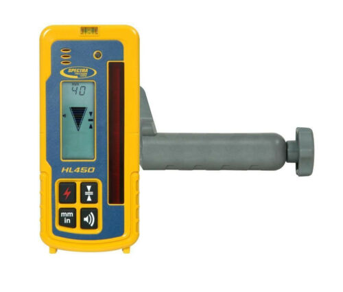 Spectra Precision HL450 Digital Laser Receiver w/Rod Clamp (Authorized Dealer)