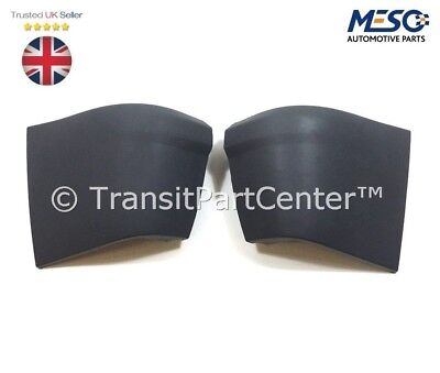 A PAIR OF REAR BUMPER END CAPS WITH CLIPS FOR FORD TRANSIT CONNECT 2002 2013
