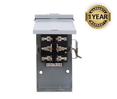 Emergency Power Transfer Switch 100 Amp 240 Volt Non Fused Run Backup Generator