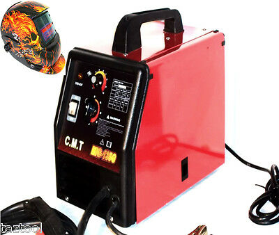 Flux Wire Welder Machine Mig 135g 220v And Auto Darkening Skull Welding Helmet