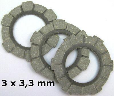 Hercules Optima,Prima 5  3-Lamellen-Kupplung SACHS 505 3x3,3 mm Kupplungsbeläge