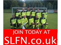 MENS SUNDAY 11 ASIDE FOOTBALL TEAM LOOKING FOR PLAYERS. Play local football