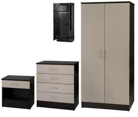 BEST FURNITURE SHOP-Bed Room Set Alina 2 Doors Wardrobe In Diff Colors-Fastest Delivery..