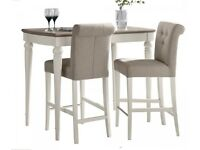 Montreux pal oak & antique white upholstered bar stools (pair)