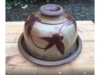 Cheese dish. Pottery, by Sue Todd.