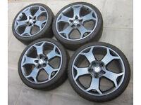 """Genuine GM 19"""" Snowflake Wheels & Centers FRESHLY REFURBED NO CRACKS OR WELDS"""