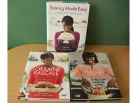 Lot of 3 Lorraine Pascale Hardback Cookbooks recipes, books, baking, bake, cooking, cook