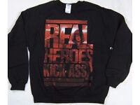 NEW Vintage 90s STYLE KICK-ASS 2 MOVIE REAL HEROES CREWNECK SWEATSHIRT - LARGE