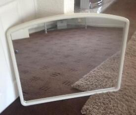 Beautiful giant white arched mirror