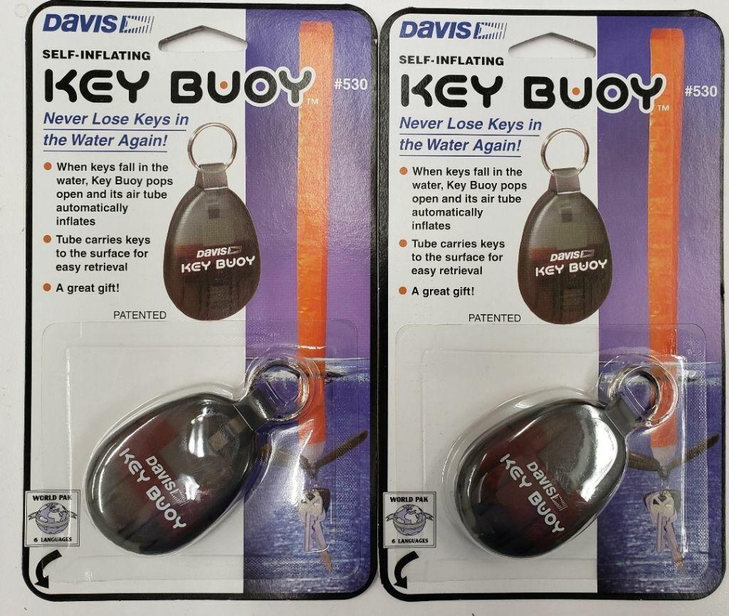 DAVIS KEY BUOY SELF-INFLATING KEY FOB NEVER LOSE YOUR KEYS!