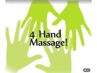 EUPHORIC 4 HAND MASSAGE: 5☆ treatment inc Swedish, Deep Tissue, Indian Head, Reflexology & facial 💗