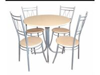 Round breakfast table and 2 chairs